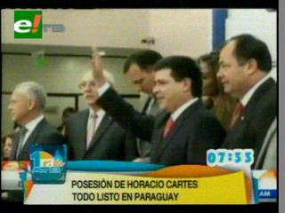 Horacio Cartes se posesiona como nuevo presidente de Paraguay