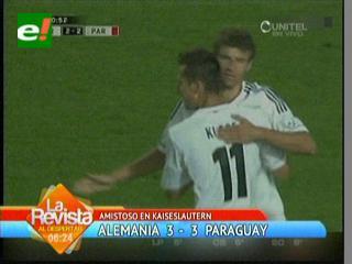 Paraguay le saca un empate a Alemania