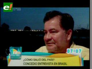 Pinto reiteró denuncia de narcotráfico y corrupción en entrevista
