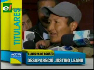 Titulares: La Policía busca a Justino Leaño