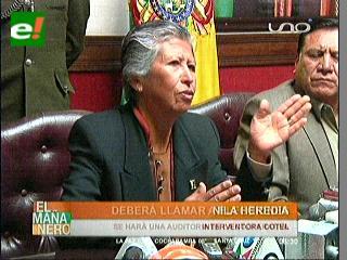 Ex ministra de Salud Nila Heredia es la nueva interventora de Cotel
