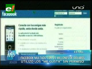 """Multan a Facebook por usar """"Me gusta"""" sin autorización de los usuarios"""