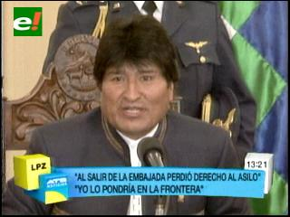 Evo se molesta y pide a Brasil devolver a Pinto