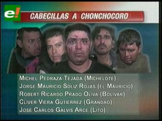 Lista de los diez reos que causaron la tragedia en Palmasola