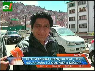 Esta tarde se define situación jurídica de Cutipa,Fiscalía pide detención preventiva