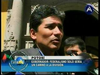 Gobernador de Potosí acusa a empresarios mineros: Peligrosamente quieren dividir el país