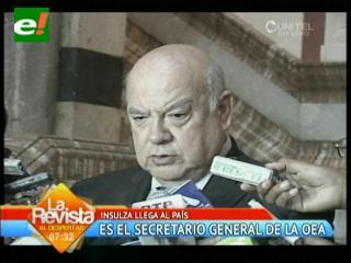 Insulza habla con Evo sobre cambios en la OEA y drogas