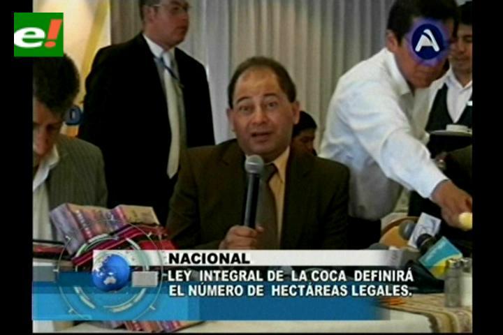 Romero advierte que el 30% de consumidores destina la coca al mercado ilegal