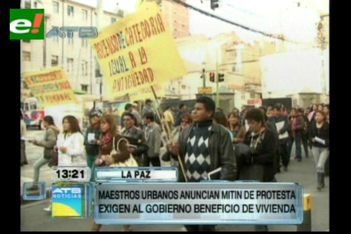 Maestros anuncian mitin de protesta, exigen al gobierno viviendas