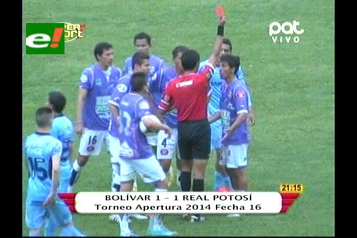 Bolívar empata y sigue en la cima