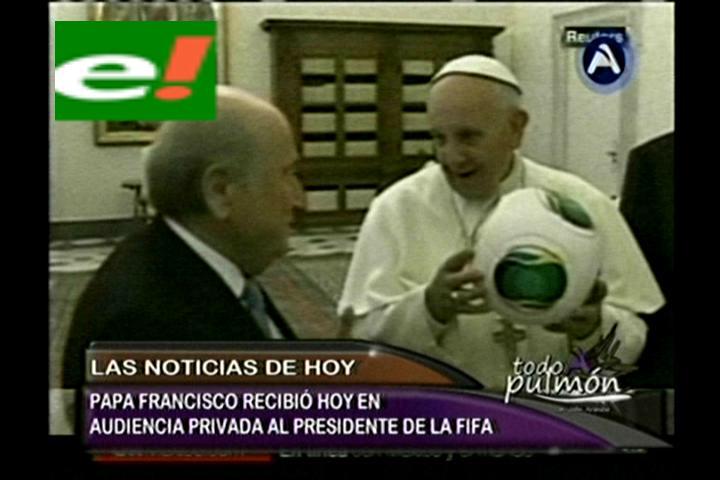 El papa Francisco recibió la visita de Joseph Blatter en el Vaticano
