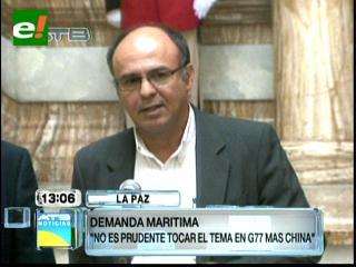 Ferreira dice que el tema mar es bilateral y que no está en la agenda de G77+China