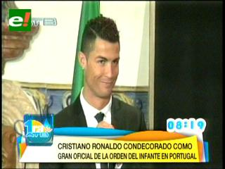 Cristiano Ronaldo, condecorado como Gran Oficial en Portugal