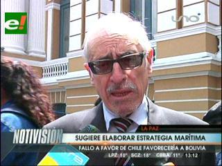 Ex Canciller Loayza sugiere elaborar una estrategia marítima
