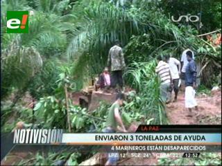 Gobierno envía tres toneladas de ayuda humanitaria a Rurrenabaque