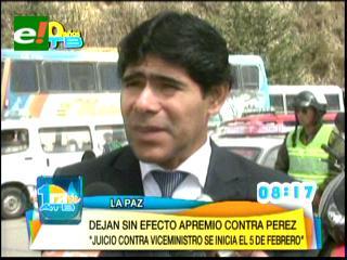 Fijan juicio contra Viceministro Pérez para el 5 de febrero