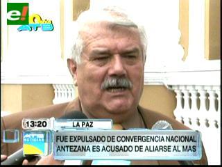 Expulsan a Marcelo Antezana de CN