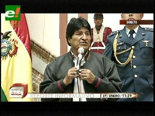 Evo pide que la oposición respete la instrucción de Sánchez Berzaín y se una