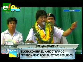 Morales asegura que Bolivia financiará su lucha antidroga