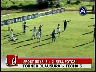 Sport Boys rescata un empate ante Real Potosí