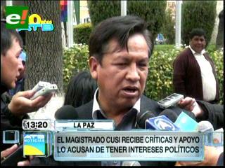 "El MAS acusa a Cusi de ""devaluar"" al Tribunal Constitucional"