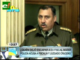 Policía deslinda responsabilidad y dice que Soza no tenía orden de aprehensión o arraigo