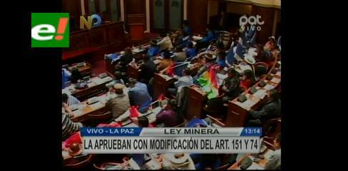 Diputados aprueba en grande y en detalle el Proyecto de Ley de Minería y Metalurgia