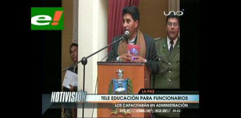 Cocarico inaugura programa de Tele Educación
