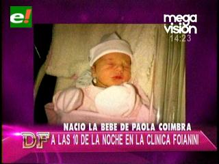 Paola Coimbra ya es mamá
