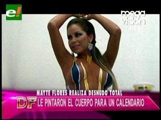 El bodypaint de Maité Flores