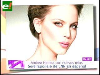 Andrea Herrera reportera de la alfombra roja en CNN
