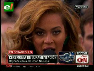 Beyoncé canta el himno nacional en la toma de posesión de Barack Obama