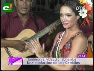 Daniela Saucedo graba videoclip con Los Cambitas