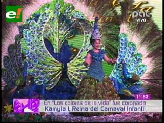 Así fue la coronación de la Reina del Carnaval Infantil 2013