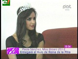 Paola Sánchez entregará la corona de Reina Mundial de la Piña 2012
