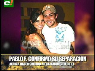 Pablo Fernández confirma su separación matrimonial