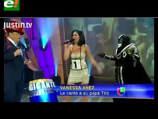 Vanessa Áñez, de Poker estuvo en Sábado Gigante