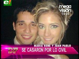 La boda civil de María René Antelo