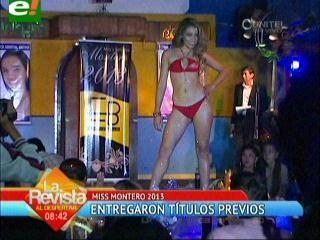 Miss Montero 2013 entrega títulos previos