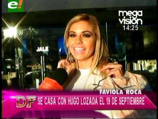 """Faviola Roca: """"Hugo me propuso matrimonio en la iglesia"""""""
