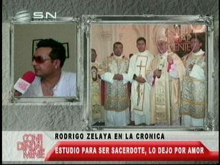 Rodrigo Zelaya iba a ser sacerdote