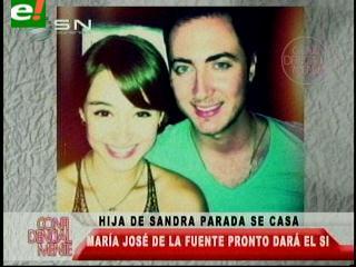María José, hija de Sandra Parada se casa