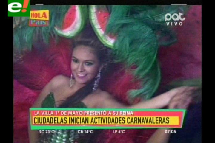 Villa Primero de Mayo presentó a su reina del carnaval 2014
