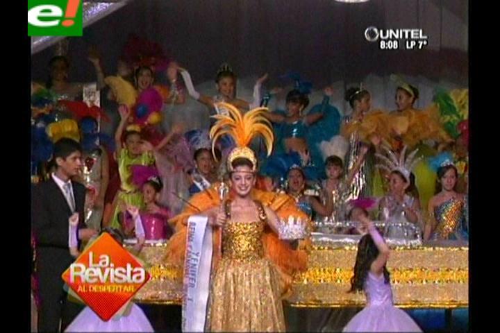 Yenifer I coronada como Reina Infantil 2014