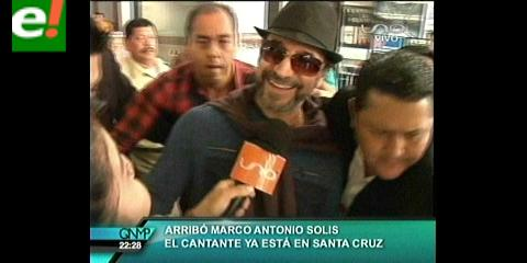 Marco Antonio Solís ya está en Santa Cruz