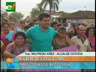 """Alcalde Wilfredo """"Coco"""" Añez fue recibido por una multitud de cotoqueños"""