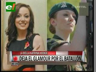 Katrina Hodges, la  ex miss Inglaterra que ahora es soldado