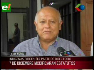 """Luis Nuñez: """"Indigenas y jugadores de fútbol estarán en el directorio del Comité Cívico"""""""