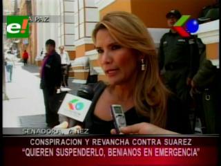 """Senadora Yañez: """"Existe una conspiración contra Ernesto Suárez para suspenderlo"""""""