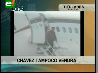 Hugo Chávez suspende su visita a Bolivia